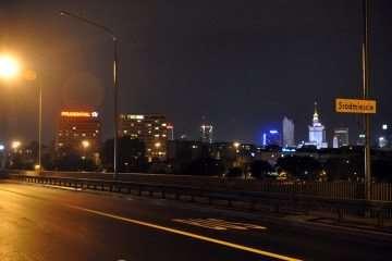 Rowerem przez most Łazienkowski?