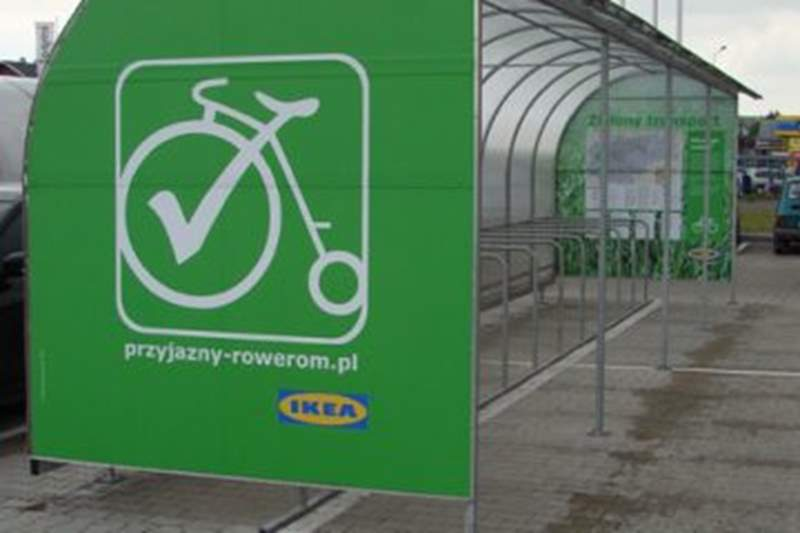 Bezpłatny serwis rowerowy przed IKEA Kraków