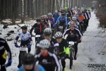 Relacja z I etapu Northtec MTB Zimą  w Jabłonnej