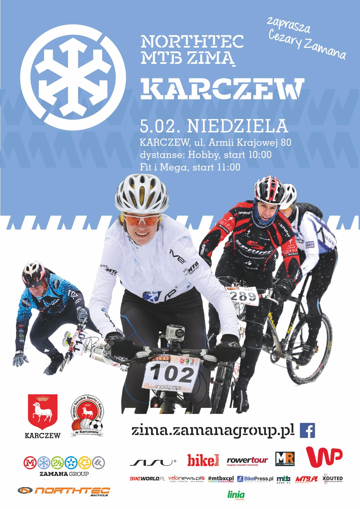 zima Karczew plakat A4